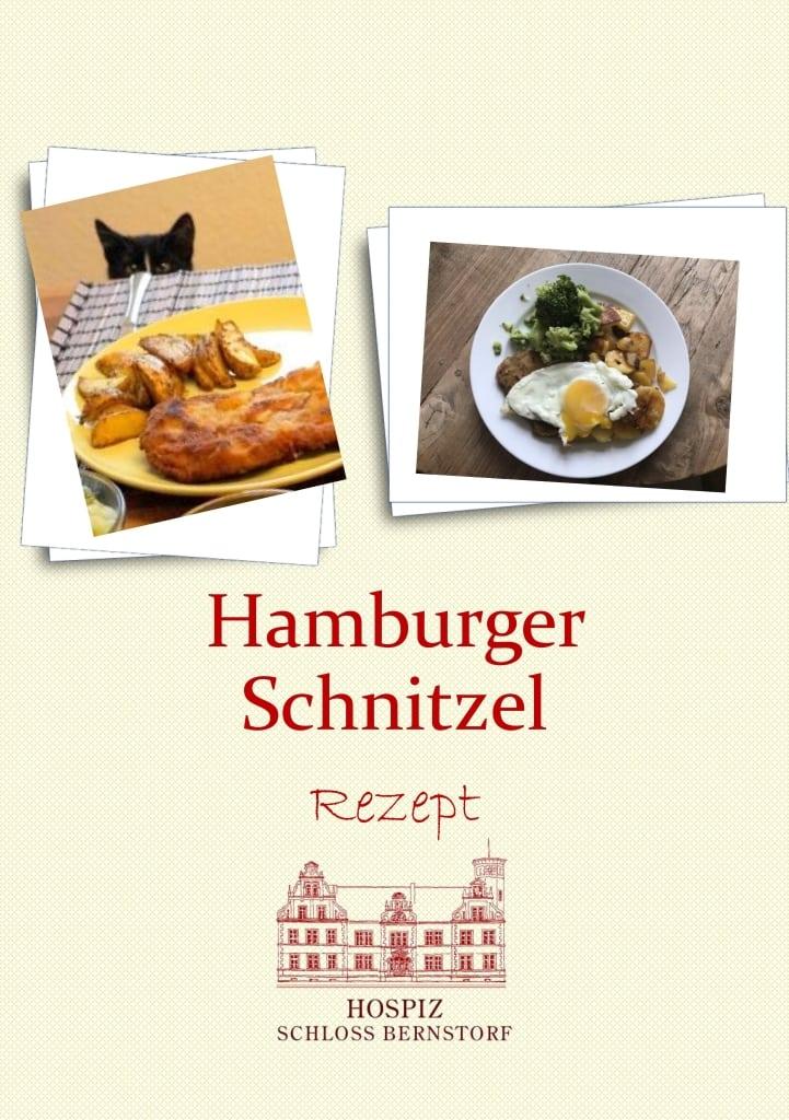 Rezeptblatt Hamburger Schnitzel für zweiPersonen